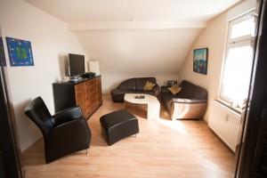 Wohnzimmer Ferienwohnung Seligenstadt